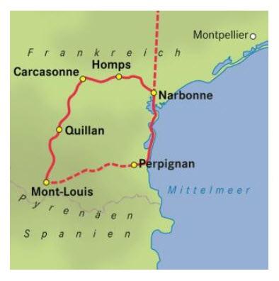Pyrenäen, C-du-Midi und Mittelmeer - Radrundreise ab Narbonne ... on