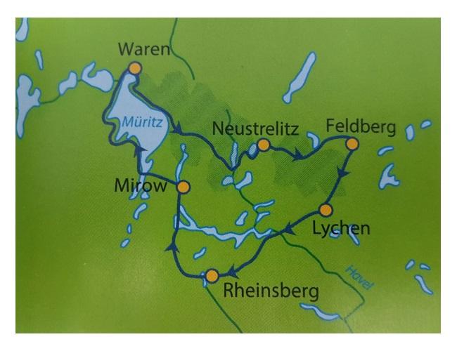 Radweg Mecklenburgische Seenplatte Karte.Mecklenburgische Seenplatte Radrundtour Ab Neustrelitz 7