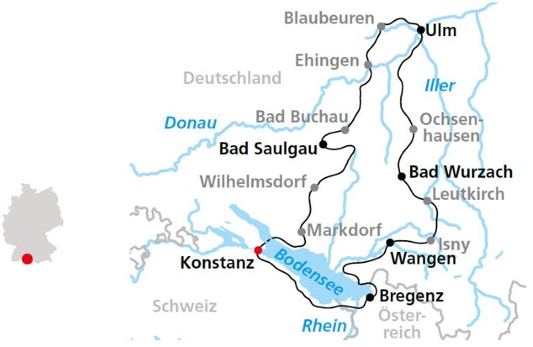 Donau Und Bodenseeradweg Ab Konstanz 7 Ubernachtungen Sportlich