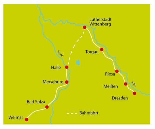Saale Radweg Karte.Elbe Und Saale Radtour Von Dresden Uber Wittenberg Bis