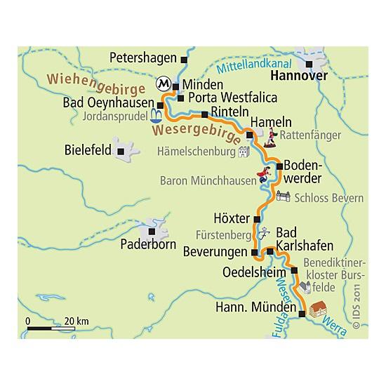 Weser Radweg Karte.Weserradweg Von Hann Münden Bis Minden 4 übernachtungen Buchen
