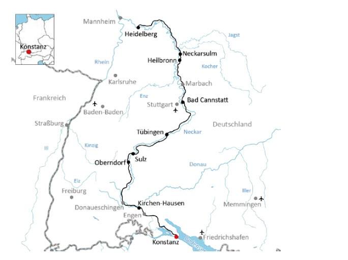 Neckarradweg Karte.Neckarradweg Von Konstanz Bis Heidelberg 7 übernachtungen
