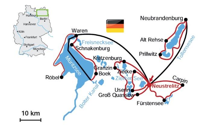 Radweg Mecklenburgische Seenplatte Karte.Sternradtour An Der Mecklenburgischen Seenplatte Ab Neustrelitz 7