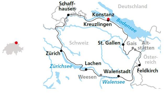 Bodensee Zurichsee Walensee Radrundtour Durch Die Schweiz Ab