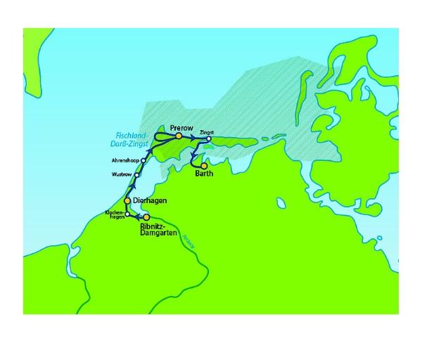 Fischland Darß Zingst Karte.Fischland Darß Zingst Wandertour Von Ribnitz Damgarten Bis Barth 6