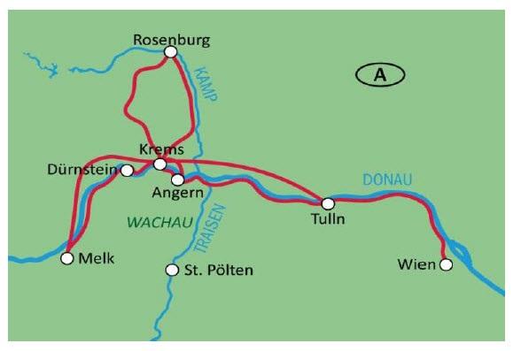 Wachau Karte Donau.Wachau Sternradtour Ab Krems 5 übernachtungen Buchen