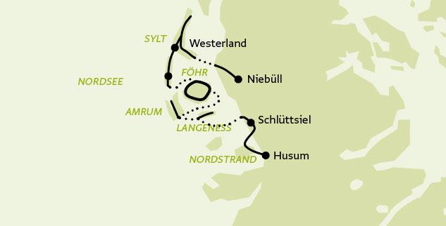 Karte Sylt Amrum.Nordfriesland Radreise Von Sylt über Föhr Und Amrum Bis Husum 6
