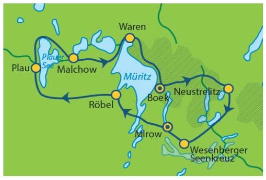 Radweg Mecklenburgische Seenplatte Karte.Mecklenburgische Seenplatte Radrundtour Ab Waren An Der Müritz 9