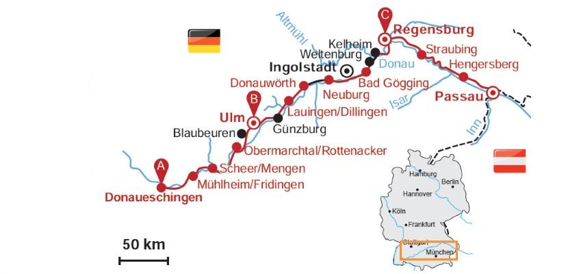Donauradweg Ulm Passau Karte.Deutscher Donauradweg Von Regensburg Bis Passau 4