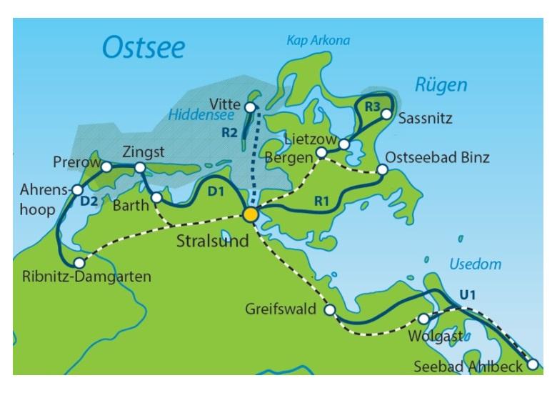 Stralsund Karte.Sternradtour An Der Ostsee Ab Stralsund 7 übernachtungen Buchen