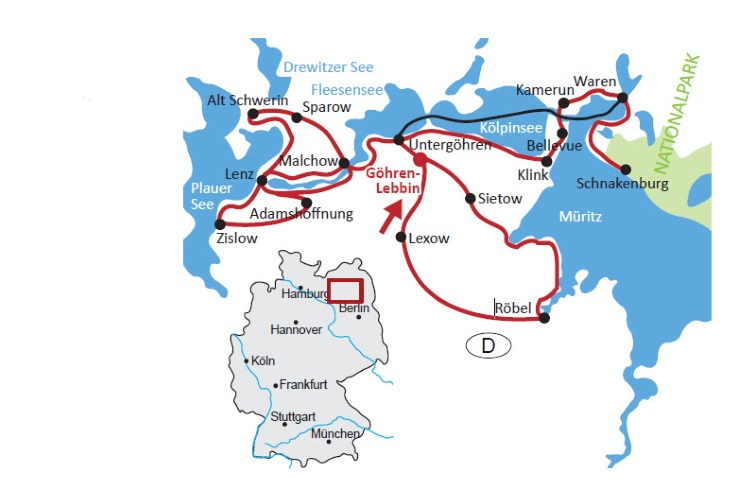 Radweg Mecklenburgische Seenplatte Karte.Sternradtour Im Mecklenburgischen Seenland Ab Göhren Lebbin 5